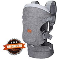 MATCC Baby Carrier for Newborn 4-in-1 Convertible Baby Carriers Front and Back Ergonomic Baby Carrier Backpack Infant up to 33 lbs/15 kg Gray