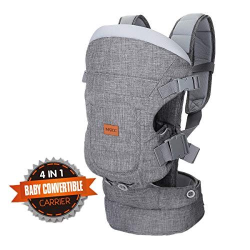 MATCC Babytrage Bauchtrage Rückentrage Kindertrage Ergonomisch Rückentrage 4 IN 1 Kindertrage Baby Carrier für Neugeborene & Kleinkinder 3.5-15kg