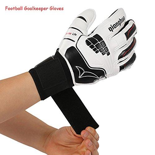 Eizur Guanti da portiere per adulti e bambini con protezione delle dita, Antiscivolo Goalkeeper Gloves, imbottita per le vostre mani per ridurre il rischio di infortuni - Taglia 6
