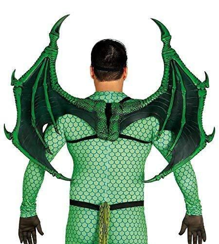 Kostüm Demon Wings - Erwachsene Herren Damen Extragroß Grün Drachen Demon Cosplay Konvention Wings Kostüm Verkleidung Zubehör Requisit