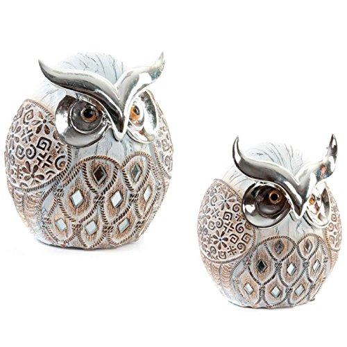 Dcasa - Figura de búhos étnica de resina para decoración Arabia