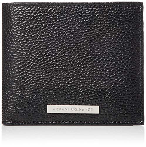 Armani Exchange Herren Bifold W/Credit Card Geldbörse, Schwarz (Nero - Black), 1.8x11.20x9.8 cm