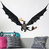 Bilderwelten Wandtattoo Dragons Hicks Und Ohnezahn Fliegen, Sticker Wandtattoos  Wandsticker Wandbild, Größe: 40cm X 60cm