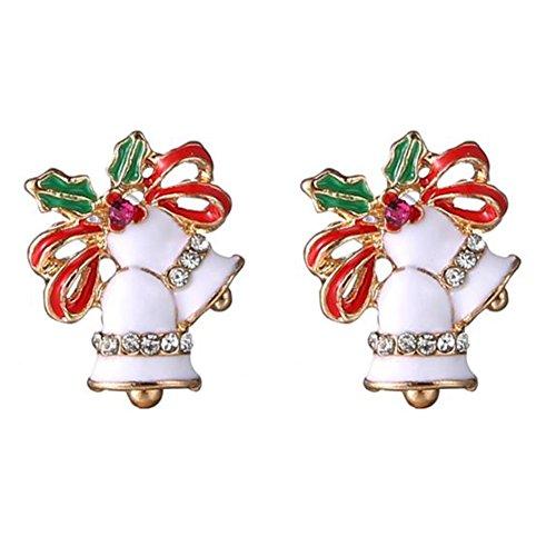 hmuck Vintage Weihnachten Dekoration für Haus / Partei / Hochzeit / Festival / Weihnachtsdekorationen Weihnachtsohrringe 18 * 14mm (Dekoration Weihnachtsschmuck)