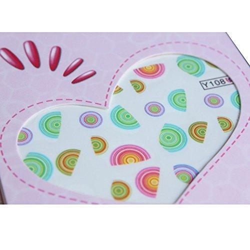 Born Pretty 1 Planche Water Decals Sticker Coloré Demi-Cercle Y108