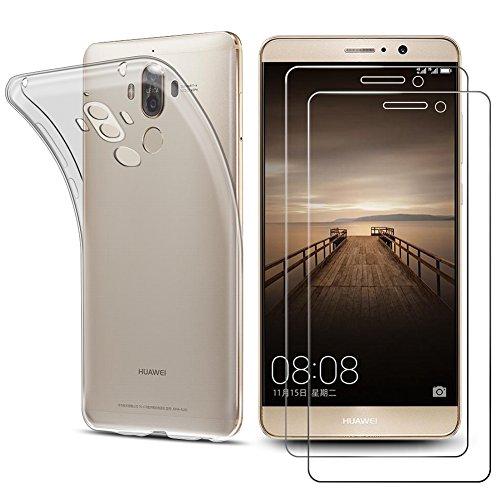 2 Pezzi Huawei Mate 9 Pellicola vetro temperato,Wellead [Japan AGC Glass] 9H Durezza Ultra Resistente HD chiarezza in vetro temperato per Huawei Mate 9