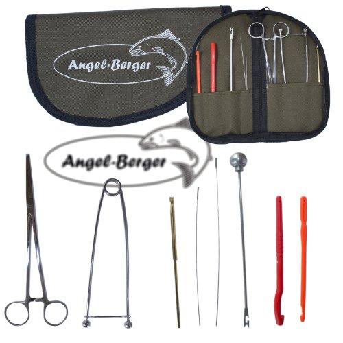 Angel Berger Hechtwerkzeugkit mit Tasche Werkzeugset Angelset