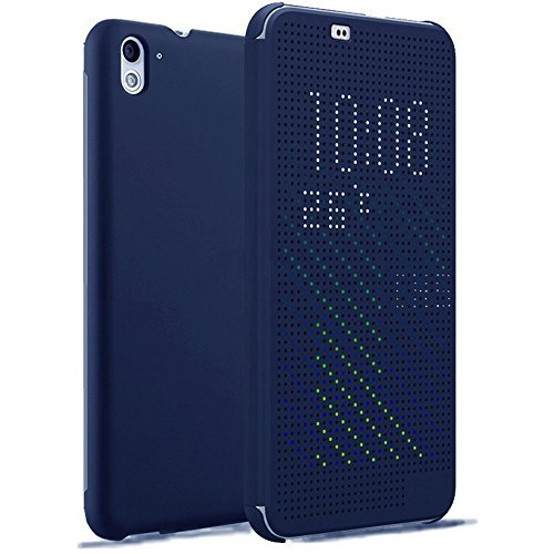Kapa Dot View Touch sense Flip Back Case Cover for HTC Desire 626G Plus (626G+) - Blue