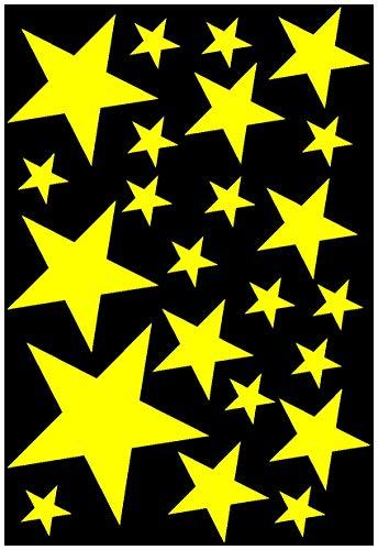 fkleber Set gefüllt 14x2,5cm6x5cm2x7,5cm1x10cm gelb ()