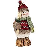 Muñecas de decoración de Navidad, MOONMINI decoración del hogar figuras juguetes de Navidad decoraciones Kit de vacaciones festiva regalo de pie juguete para el árbol de Navidad (Snowman)