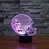 Minnesota Vikings Helm Led Nachtlicht Usb 3D American Football Team 7 Farbwechsel Visuelle Helm Geformt Dekorative Lampe