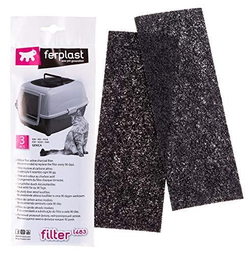 Ferplast L483 Filter für Haus Toilette (3 x 1 Filter) (Magic Blue)