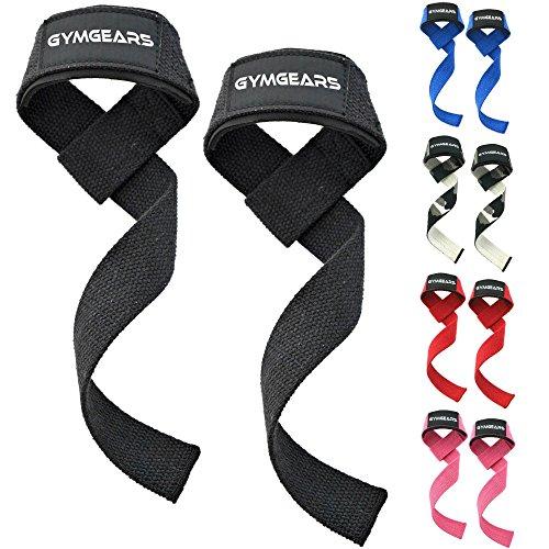 GYMGEARS® Profi Zughilfen [Gepolstert] 60 cm für Krafttraining, Bodybuilding & Fitness - Für Frauen & Männer geeignet