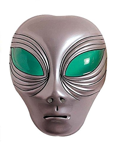 Alien Maskenkleid Karneval Halloween (Alien Maske Grau)