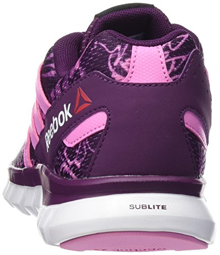 Reebok Sublite XT-Cushion Grftmt-Chaussures running Femme Multicolor (CELESTIAL ORCHID / ICONO PINK / WHITE)