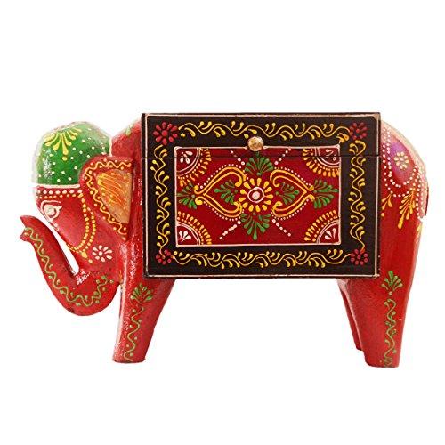 Purpledip Festive Trinket Box aus Holz Farbe: verschiedene HANDPAINTED (11286), Box mit Deckel -