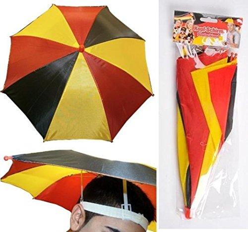 HAAC Kopfschirm Regenschirm 53 cm Deutschland Fußball 2018