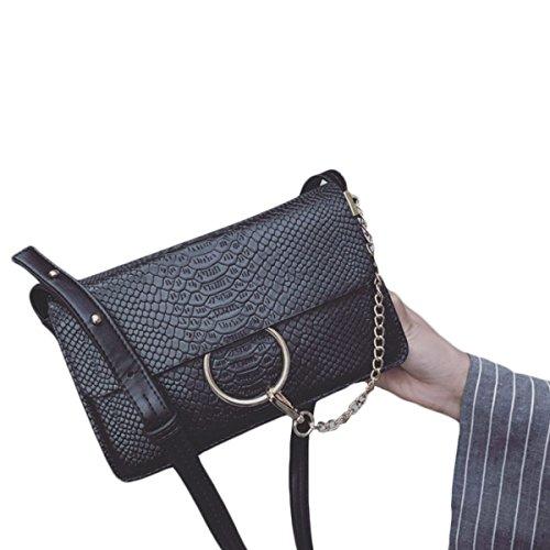KYFW Frauen-Art- Und Weiseketten-Beutel-Schulter-Krokodil-Muster-kleine Quadratische Tasche A