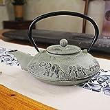 Tee Geschenk Gusseisen Topf 1200ml klassischen Tee-Set Gesundheit Eisentopf Teekanne, Elefant