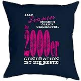 Kissenbezug, Kissenhülle, Bezug für Kissen zum Geburtstag - Frauen... die 2000er Generation ist die Beste!