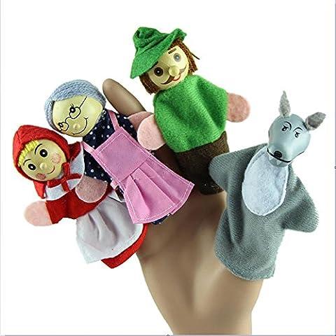 Yogogo- enfants Jouet - 4PCS / Set Marionnette à doigt Jouets éducatifs Poupée