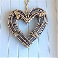 Tutti Decor Gisela Graham Large Natural Wicker Heart Wreath. Christmas Wedding Home Craft 40cm