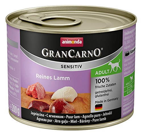 Animonda GranCarno Hundefutter Sensitive Adult Reines Lamm, 6er Pack (6 x 200 g) Preisvergleich