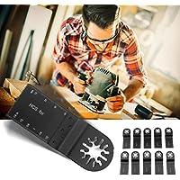 10pcs 35mm Hojas de sierra Multi-herramienta oscilante de mezcla de madera Ahorre herramienta eléctrica de mano (Color: Negro)