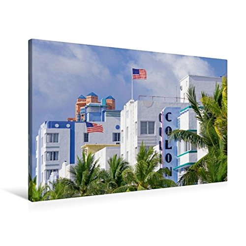 South Beach Miami Art Deco (Premium Textil-Leinwand 90 cm x 60 cm quer, Schöner Wohnen Der Art Deco District  in South Beach | Wandbild, Bild auf Keilrahmen, Fertigbild auf ... Beach, Miami, Florida, USA (CALVENDO Orte))
