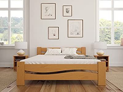Solid Pine Wooden Bed Frame & Solid Thick Slats - low-cost UK light store.