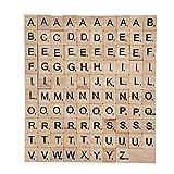 TILY Azulejos de Madera del Scrabble Sistema Completo de 100, Letras del Scrabble Para los Artes, Juegos de Mesa, kit de la Fabricación de la Joyería AZULEJOS BARNIZADOS