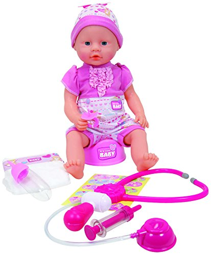 New Born Baby 5032355 muñeca - muñecas (Niño/niña, Multi, Feeding Bottle, Hat, Potty, Femenino, Ampolla)