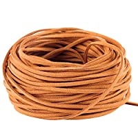 Amerisky 21M Faux Suede String Craft Leather Cord Wire DIY Jewelry Bracelet Necklace Making Beading Thread (Light Coffee)