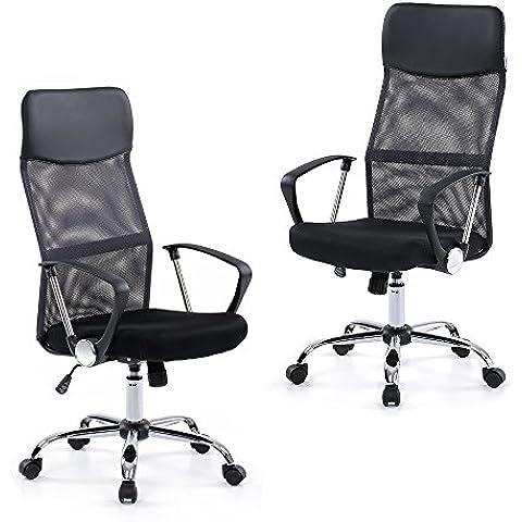 uniry (TM) US Stock Brand IKAYAA Mesh regolabile sedia da ufficio con schienale alto girevole compito Sedia Mobili + SGS Intertek relazione