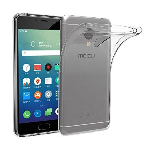 Custodia Meizu M5S , Leathlux Trasparente Morbido TPU Custodie Protettivo Bumper Chiaro Flessibile Silicone Gel Ultra Sottile Cover per Meizu M5S 5.2 Pollici
