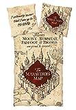 Harry Potter Bettwäsche Marauder's Map Wendemotiv - Single Bettwäsche-Set mit Aufdruck - Kopfkissen 80x80 cm/Bettdecke 135x200 cm