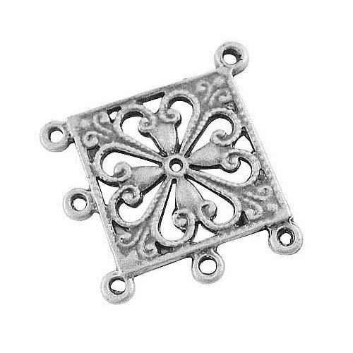 Pandahall 10 Stück Antik Silber tibetischen Stil Rhombus Kronleuchter Komponente Links für baumeln Ohrring machen