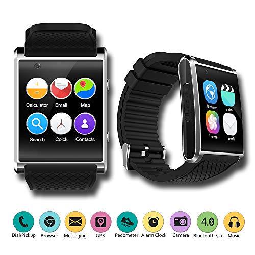 Indigi® Neue 20173G GSM entsperrt Smartwatch & Phone + WiFi + GPS + Bluetooth 4.0+ Herzfrequenz Monitor (Gsm-smartphones Neue Unlocked)