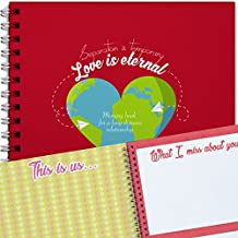 Scrapbook For Long Distance Relationship, Memory Book, Perfect For Anniversary Gifts, Boyfriend, Girlfriend and Couples.