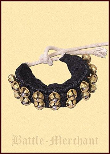Preisvergleich Produktbild Mittelalterliches Schellenband mit 2 Reihen Glocken aus Messing Musikinstrument LARP Wikinger Mittelalter