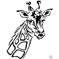 Giraffe sticker graphic decal, car, window, truck.