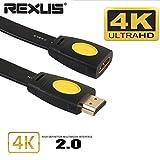 Gaddrt Câble d'extension 3D plaqué or 4K HDMI Rallonge mâle à femelle LCD HD TV...