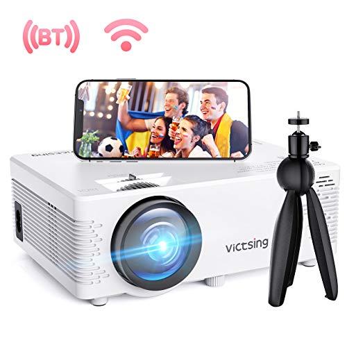G-wukeer Mini Proyector Port/átil Fiestas Y M/ás Pel/ículas Videojuegos Proyector Port/átil con Bolsa De Transporte VGA Compatible con HDMI Proyector De Video Full HD