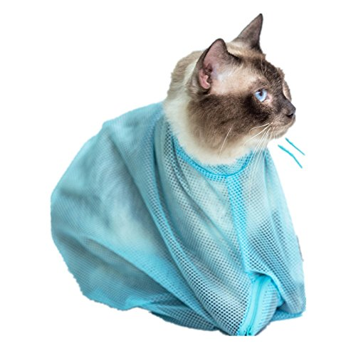 Fully Katze Pflege Tasche Baden Nägel zu schneiden Ohrreinigung Beutelsack Sack 50*30cm (Farbe zufällig )