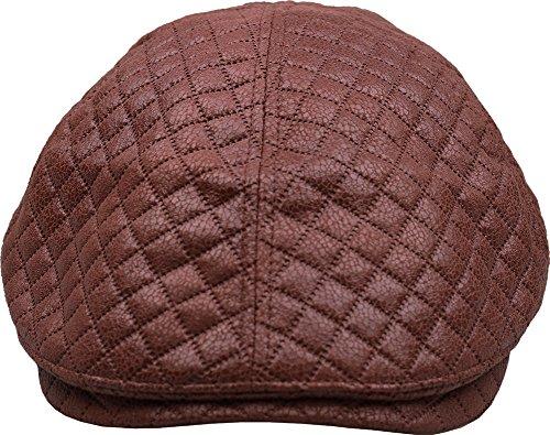 Sujii iCAB Padded rembourré Newsboy béret Flat Cap Casquette Plate Cabbie Hat Chapeau de Chauffeur Golfer Cap Chapeau de Golf Casquette Souple Hunter