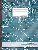 PROJEKTPLANER A4 • 70+ Seiten, Soft Cover, Register, 'Architekt' • #GoodMemos • Linke Seite für Planung (To Do Listen, Datum uvm.); Rechte Seite für Notizen