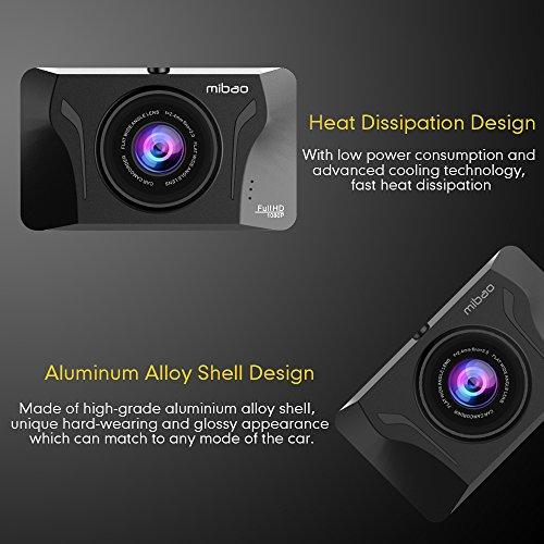 Mibao Dashcam Telecamera per Auto Dash Cam per Auto Camera Car 1080P con 3.0″ LCD, 170 Gradi, G-Sensor, WDR, 6 Glens, Rilevazione di Movimento, Registrazione in Loop,WDR - 4