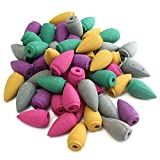 Jeteven Natural Incienso Reflujo Cono Flavor Interior Calmar Incienso Colores y Olores (50 pcs)