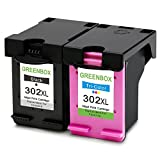 2 Paquetes GREENBOX Reciclado HP 302 XL 302XL Cartuchos De Tinta Reemplazo (1x negro, 1x color) por HP Deskjet 3636 3630 1110 2130 2130 3633 3632 3638 3634 3635 3637 2135 2134 2132 HP Envy 4525 4520 4524 4527 4522 4528 4521 HP Officejet 3831 4655 4650 3833 4658 3834 3830 4654 3832 4657 3835