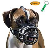JeonbiuPet Haustier Hund Maulkörbe, Hund Mund abdecken Weich Einstellbare Atmungsaktiven Silikon Hund Korb Maulkorb für Ausbildung beißen bellen kauen keuchend (Size 3)